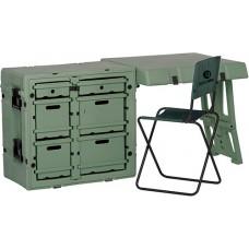 Одноместный складной стол для мобильного офиса или командного пункта FD3121