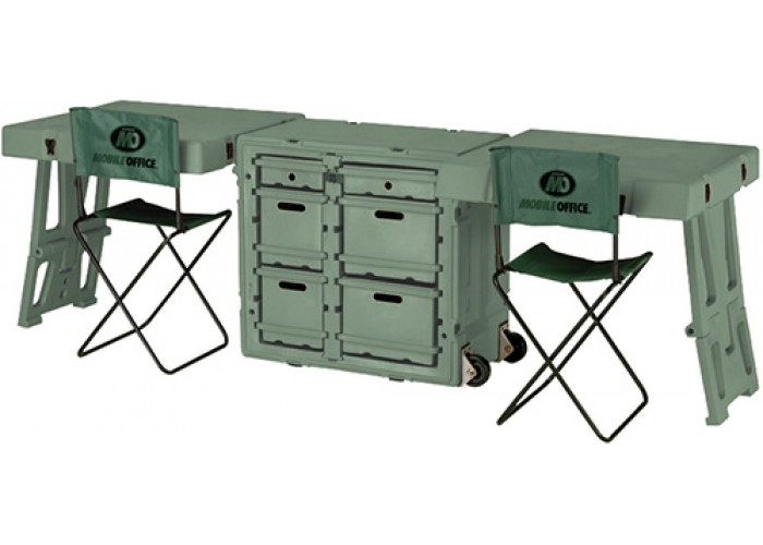 Двухместный складной стол для мобильного офиса или командного пункта FD3429