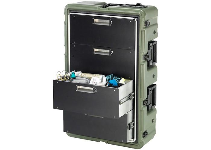 Медицинский кейс-шкаф, 4 поддона MC4100