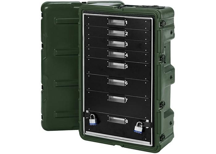 Медицинский кейс-шкаф, 8 поддонов MC8100